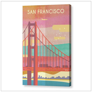 San francisco Cityscape Art Print.