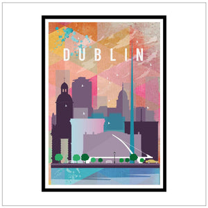 Dublin Travel Poster