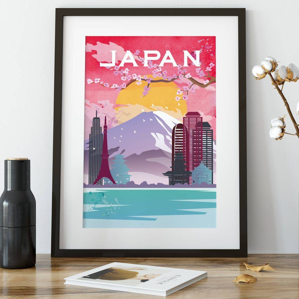 Japan fine art travel poster
