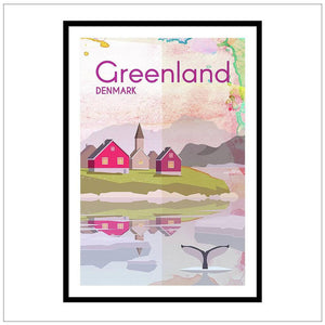 Greenland Travel Poster