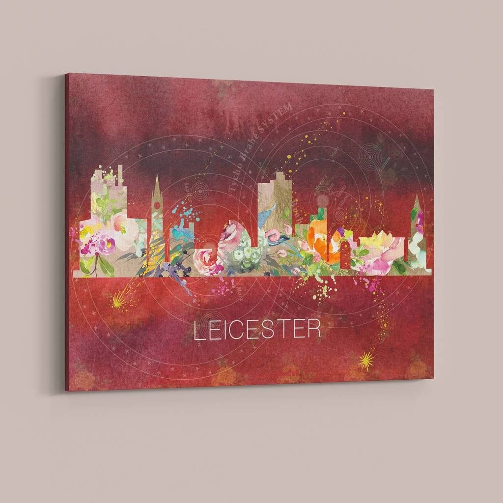 Leicester Watercolour Skyline