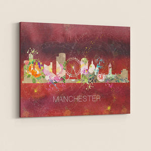 Manchester Watercolour Skyline