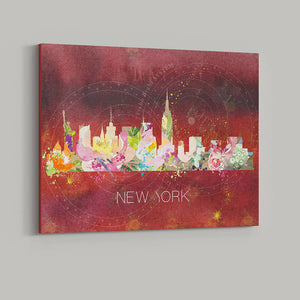 New York Watercolour Skyline