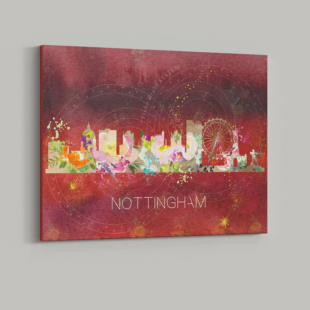 Nottingham Watercolour Skyline