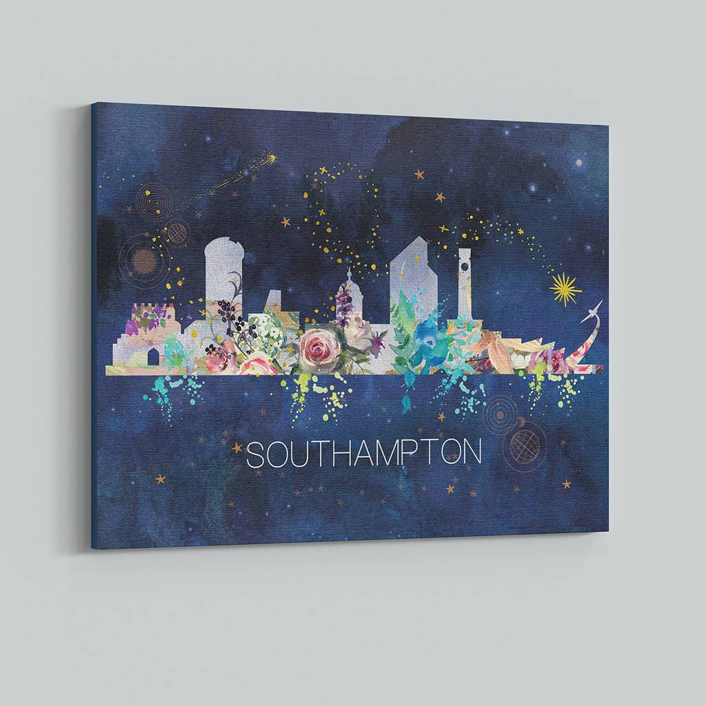 Southampton Watercolour Skyline