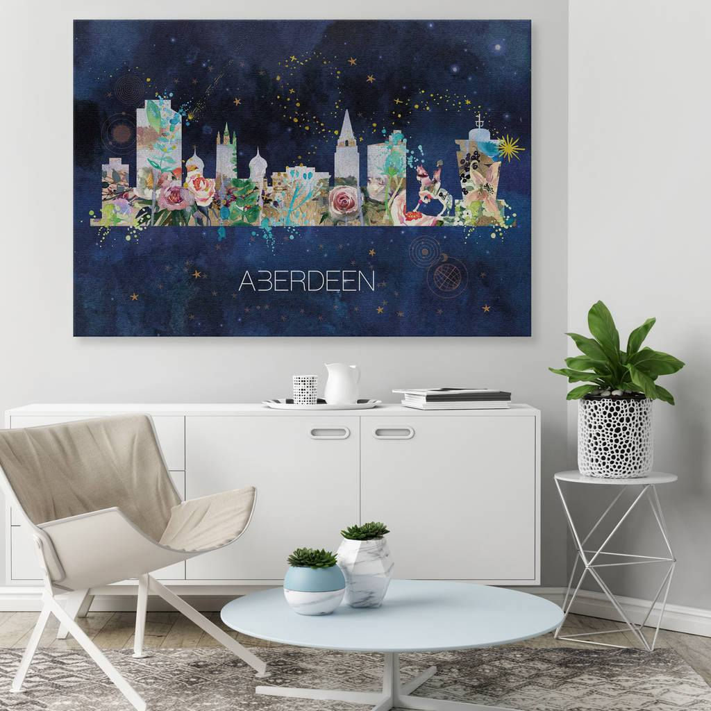 Aberdeen Watercolour Skyline