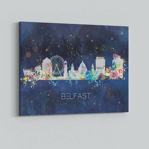 Belfast Watercolour Skyline