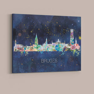 Bruges Watercolour Skyline
