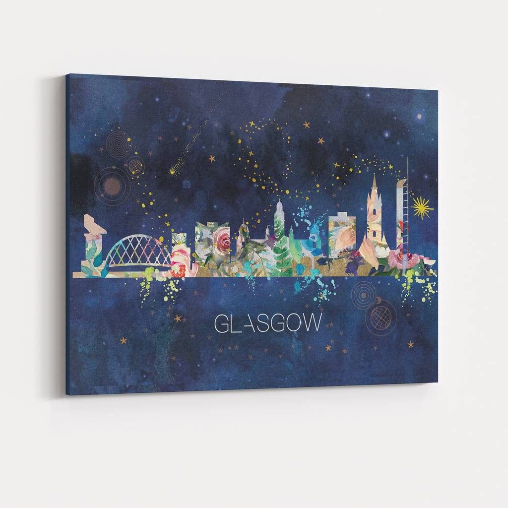 Glasgow Watercolour Skyline