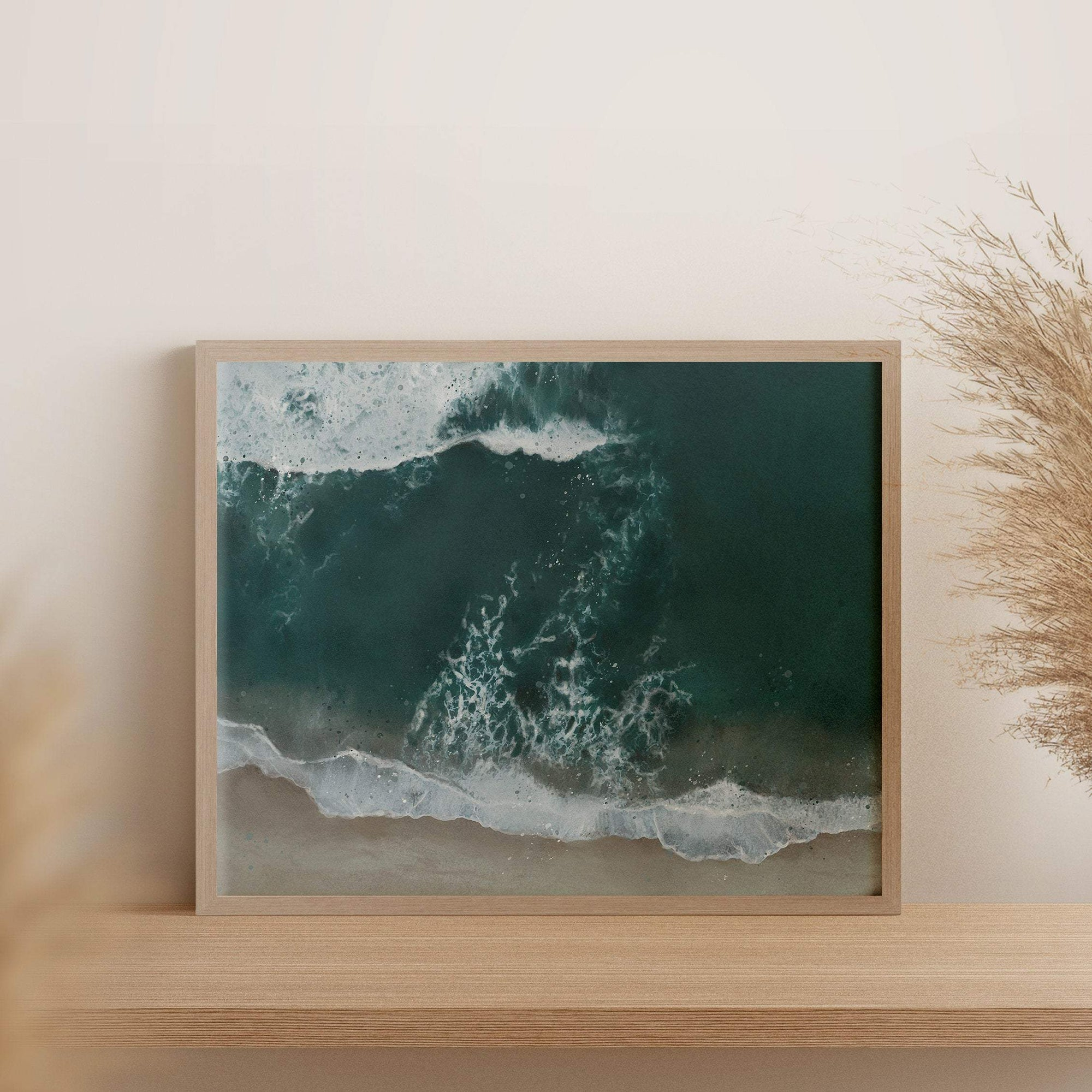 Ocean beach wave coastal art print
