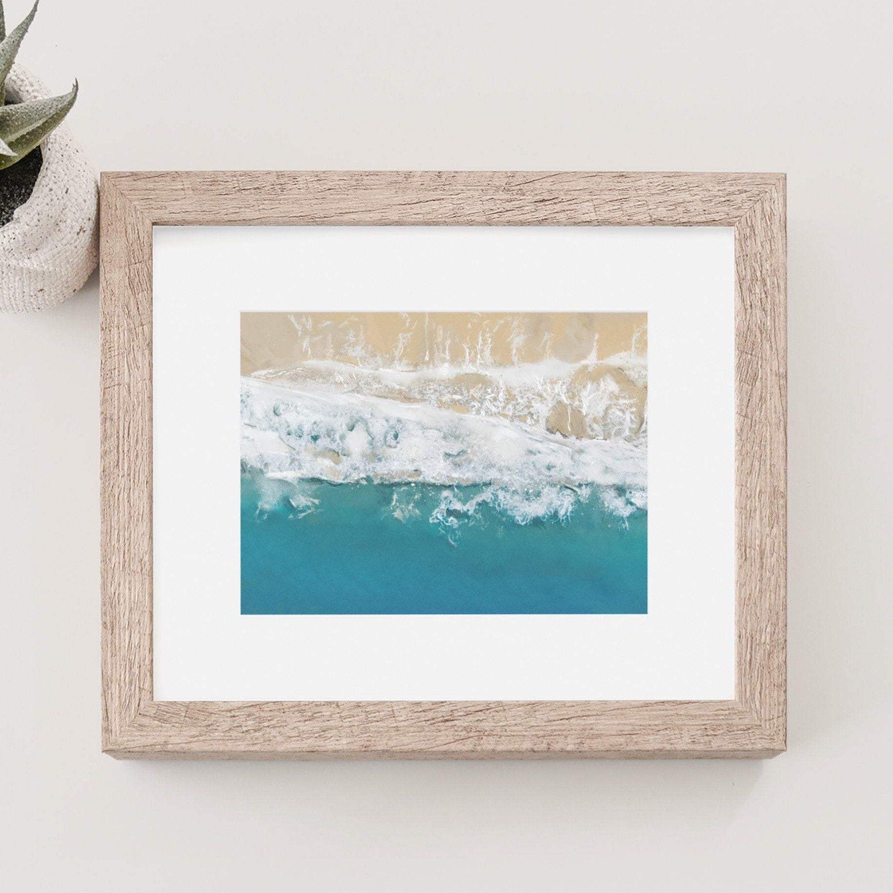 Summer Waves on Golden Sands art print