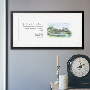 Wedding Venue Portrait With Personalised Quote