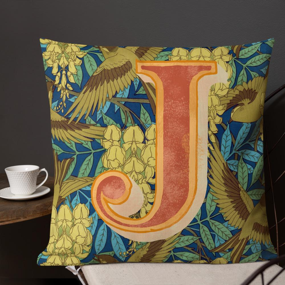 MONOGRAM, LETTER J PREMIUM CUSHION