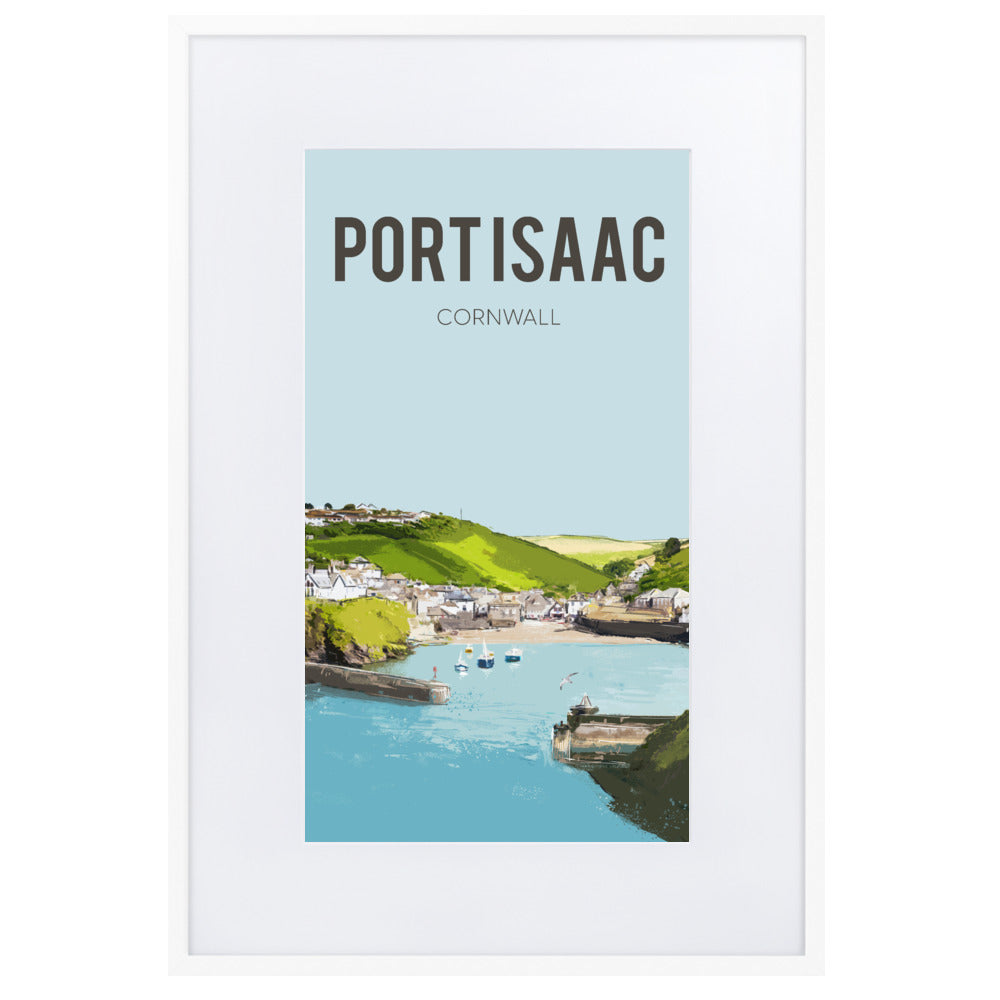 Port Isaac, FRAMED FINE ART PRINT, WITH MOUNT