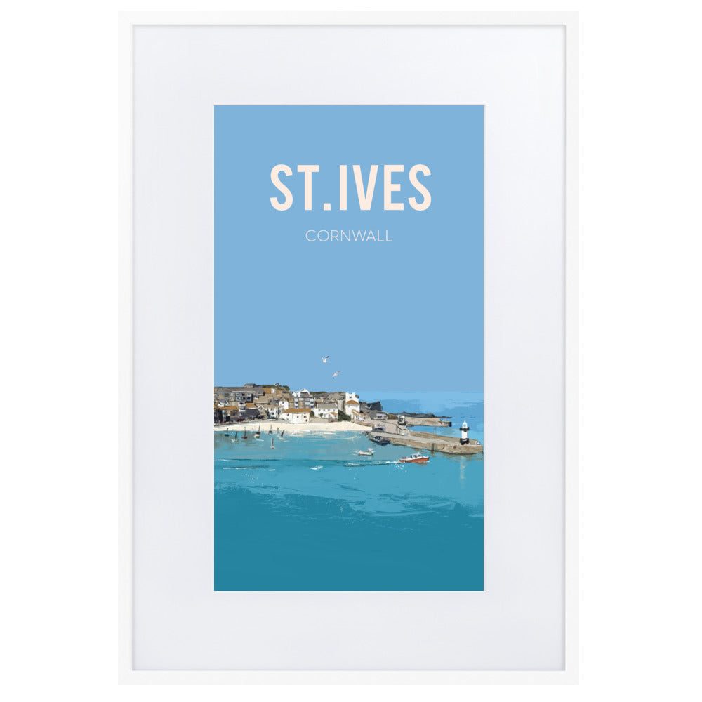 St. Ives, FRAMED FINE ART PRINT, WITH MOUNT