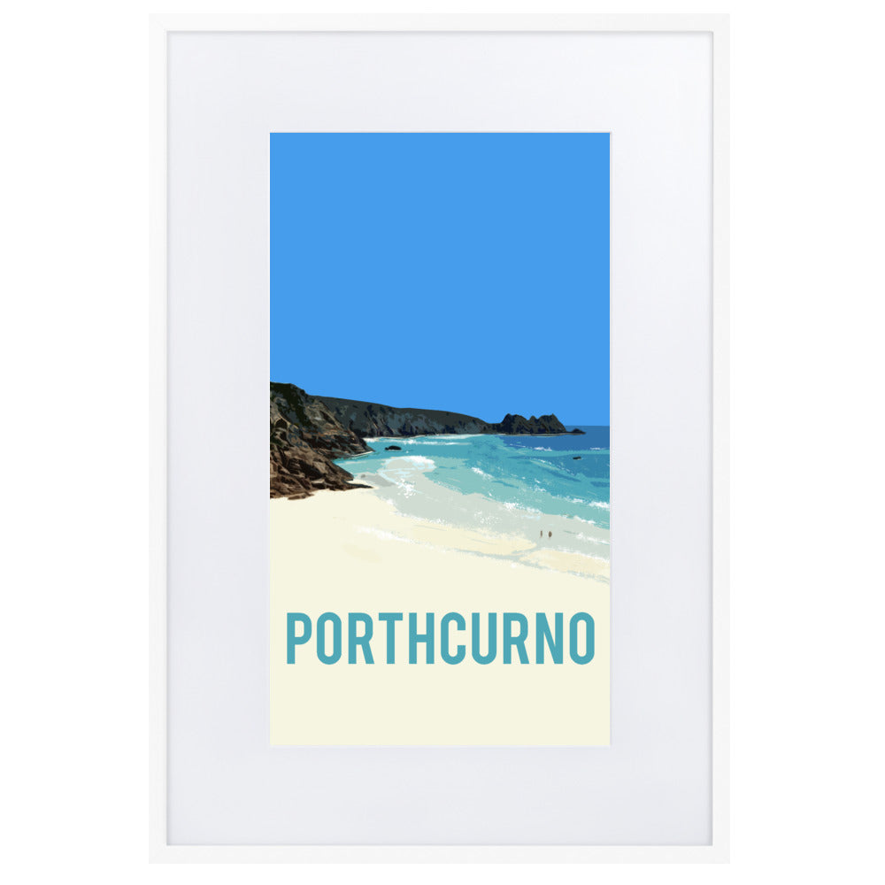 Porthcurno, FRAMED FINE ART PRINT, WITH MOUNT