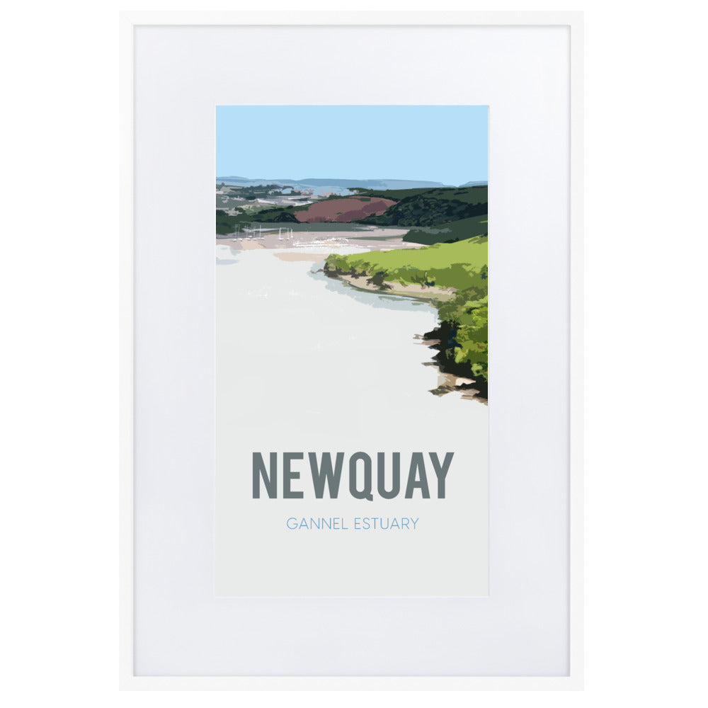 Newquay, FRAMED FINE ART PRINT, WITH MOUNT