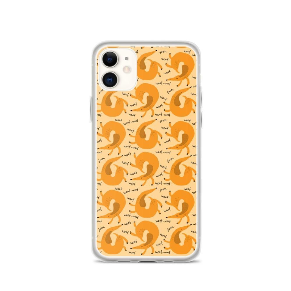 Woof Woof Dachshund iPhone Case