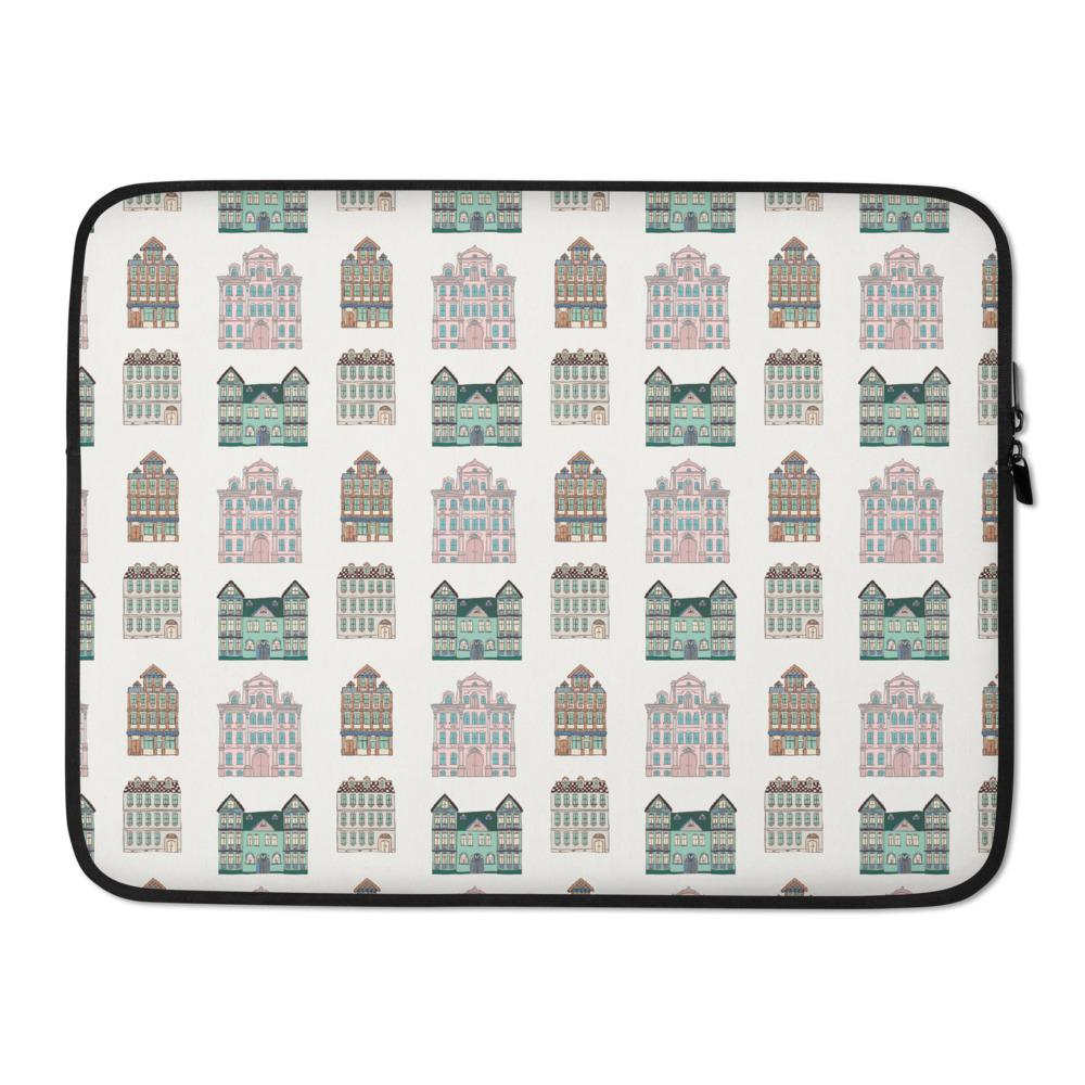 Row of Houses Laptop Sleeve