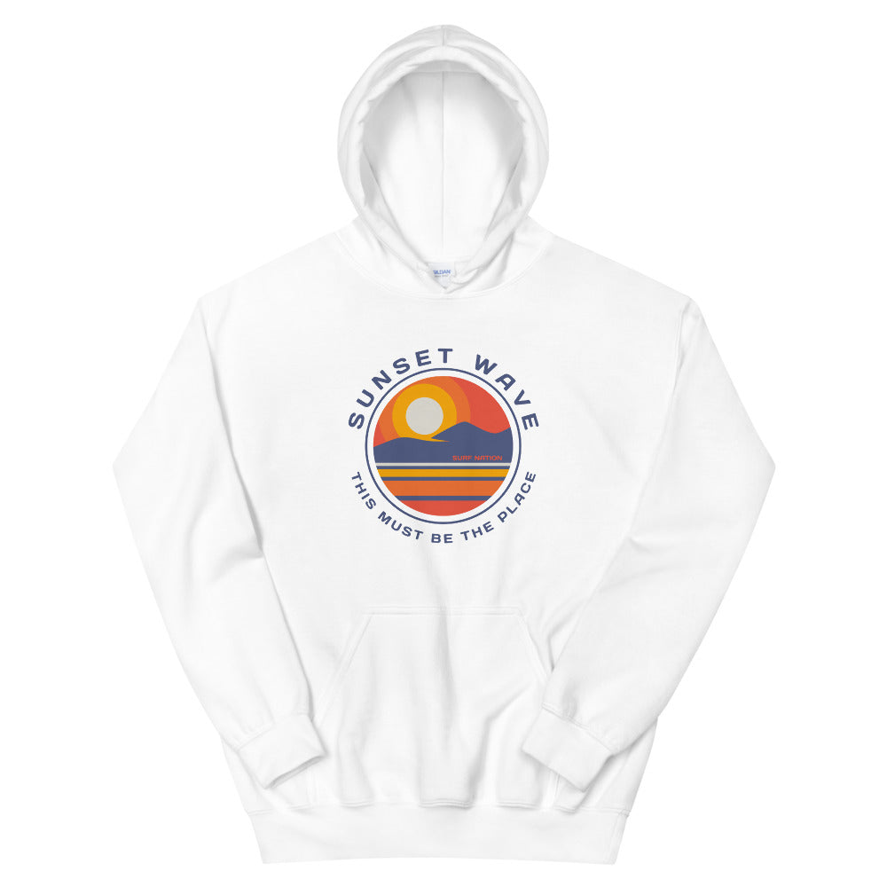 Womens Sunset Wave Hoodie