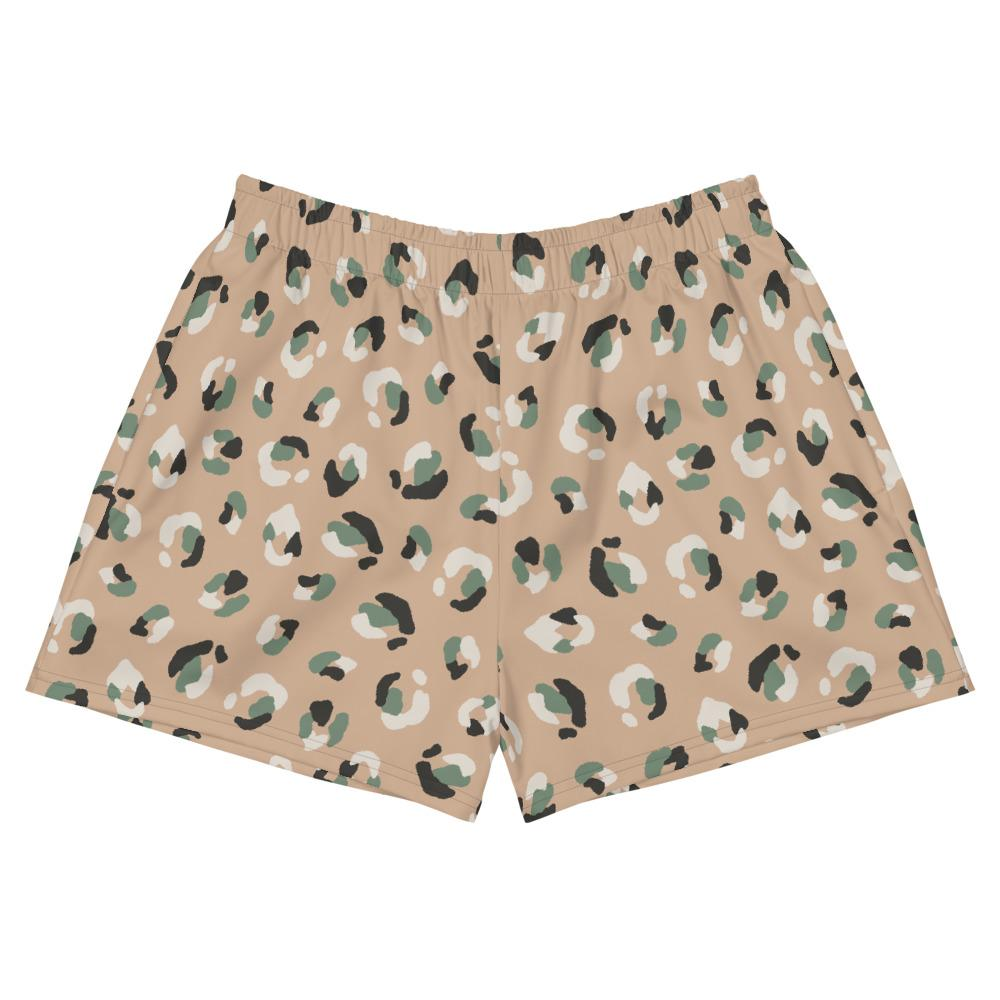 Animal Print Women's Athletic Short Shorts
