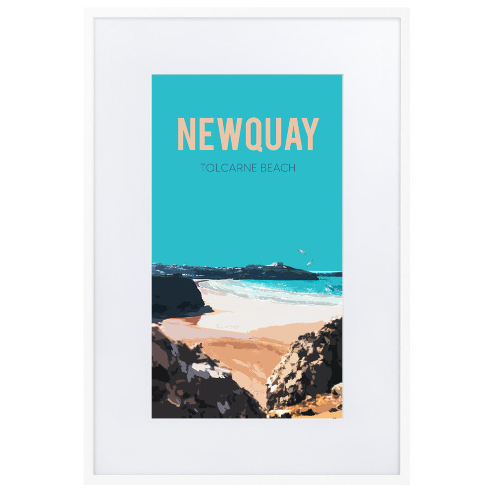 Newquay FRAMED FINE ART PRINT, WITH MOUNT
