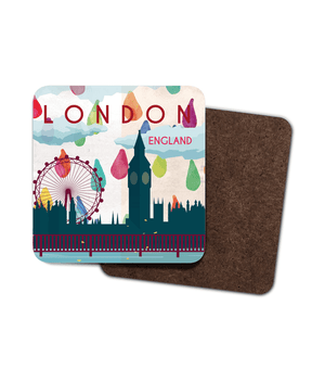 London Single Hardboard Coaster