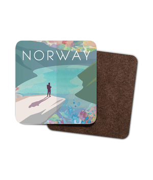 Norway Single Hardboard Coaster