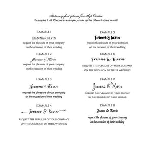 Black and White Illustrated Wedding Invitation