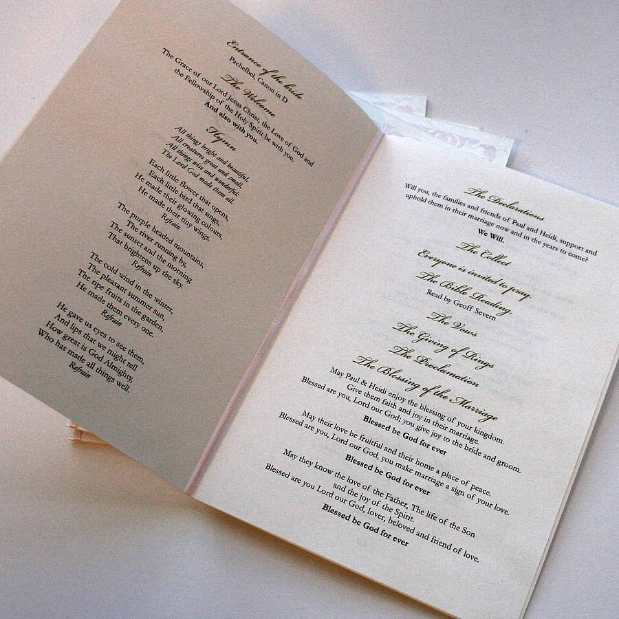 Illustrated Order of Service - 2by2 Creative