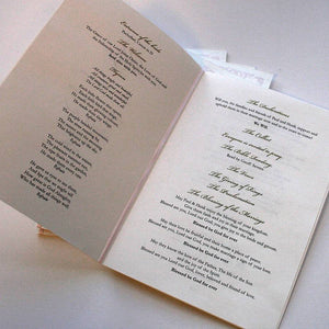 Order of Service with initials