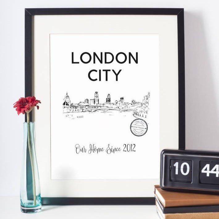 London, River Thames Personalised Art Print