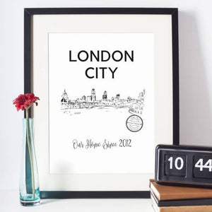 London River Thames Skyline Art Print