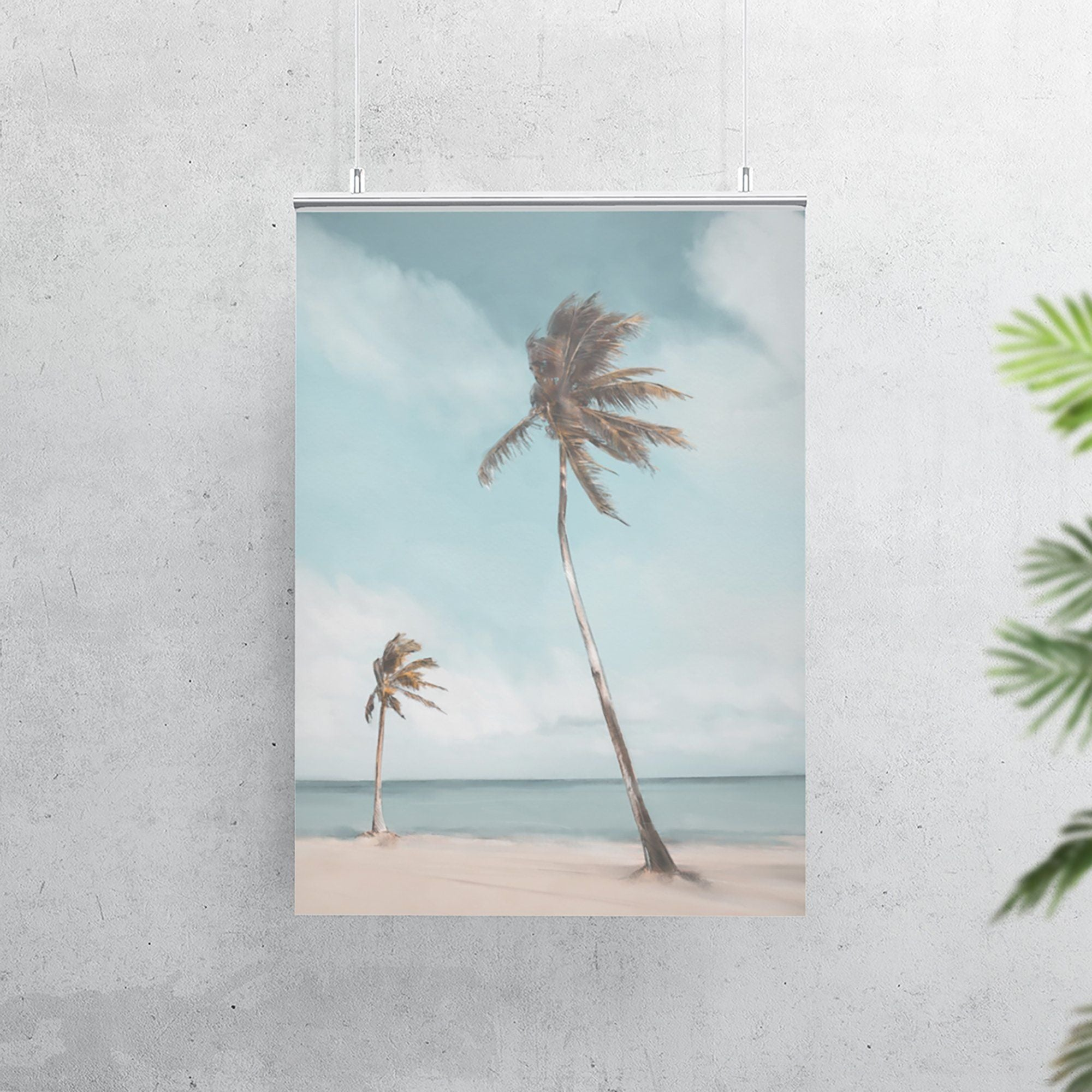 Palm trees Coastal Art Print