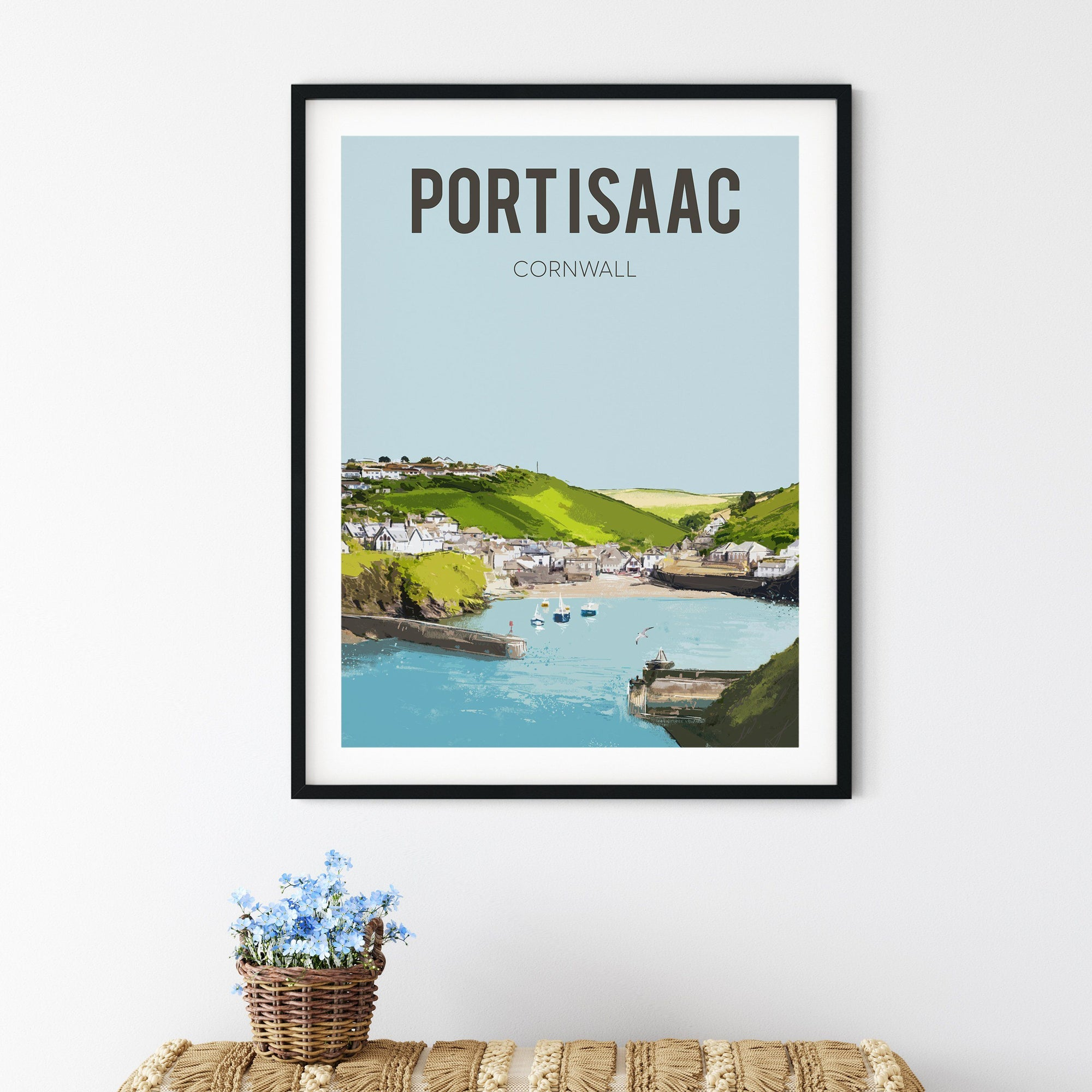 Port Isaac FINE ART PRINT - FRAMED