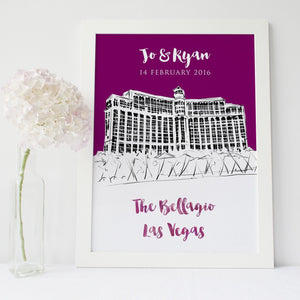Wedding Venue Sketch With Colour Pop
