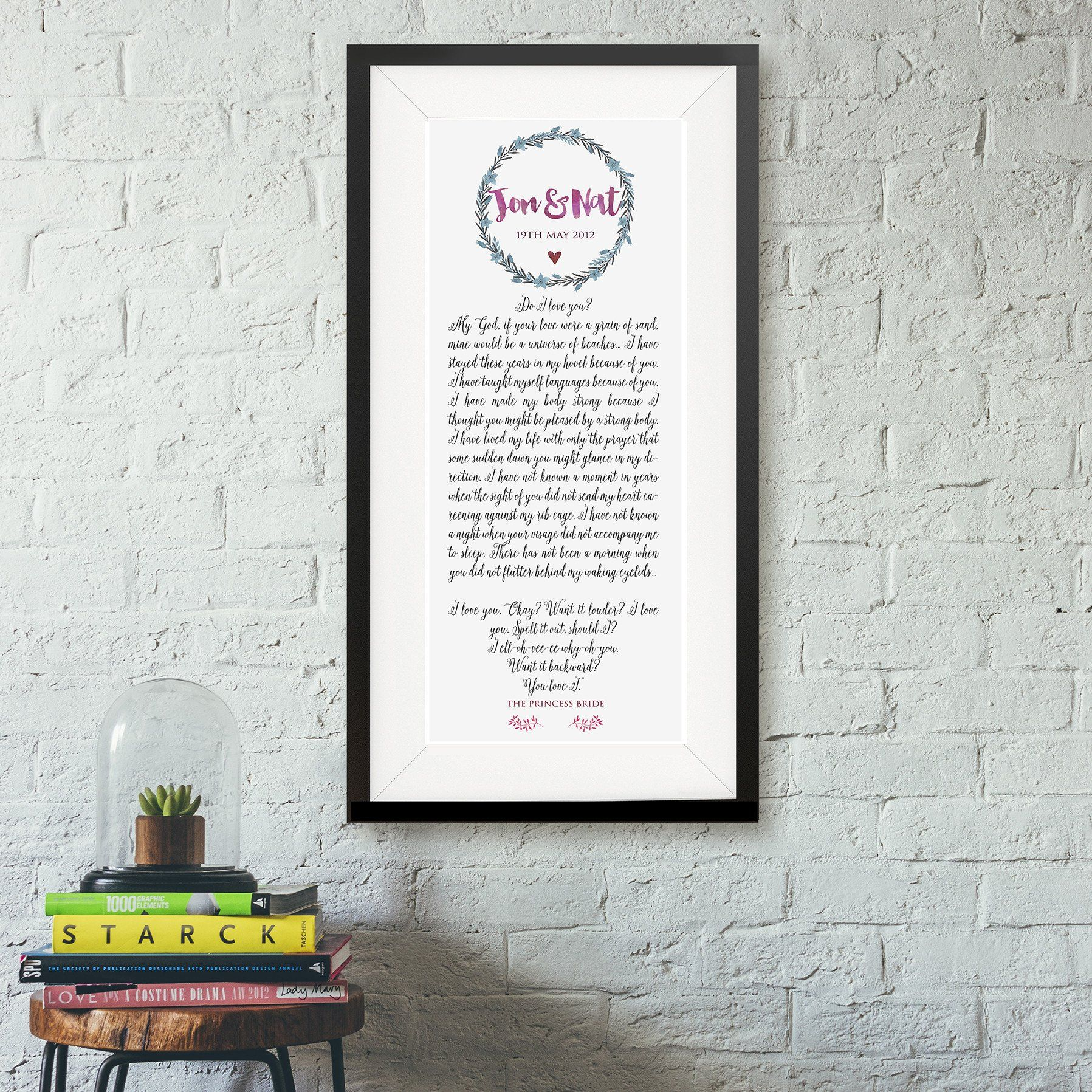 Personalised Wedding Poem