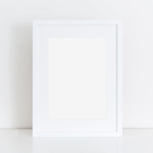 White A3 frame with mount