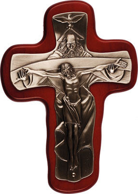 Holy Trinity Cross  wood metal corpus  by -cbc - Louie's Gift Shop