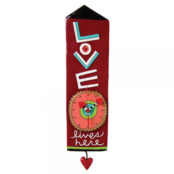 Allen Designs Love Lives Here Clock - Louie's Gift Shop