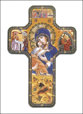 "Wood Icon Cross 7""/Lady of Perpetual Help"