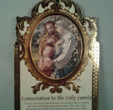 Holy Family  Wooden  Plaque - Louie's Gift Shop