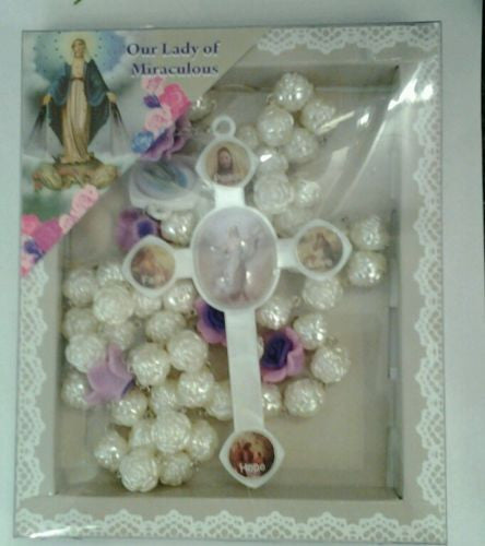Wall Hanging Rosary Our Lady of the Miraculous - Louie's Gift Shop