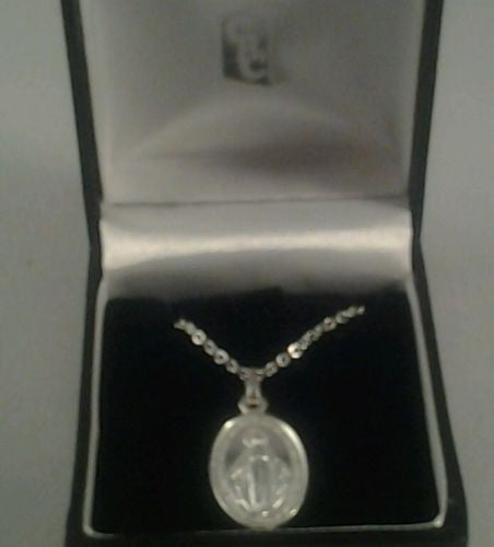Miraculous  Medal  Silver Plated - Louie's Gift Shop