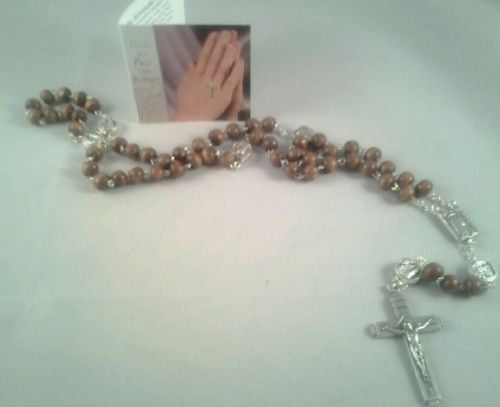 Lourdes Wooden Rosary Beads - Louie's Gift Shop