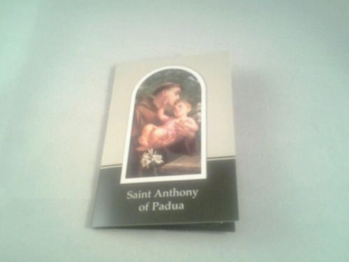 Verse / Prayer Card with Silver Relic Metal Oxidised Medal St.Anthony of Padua - Louie's Gift Shop
