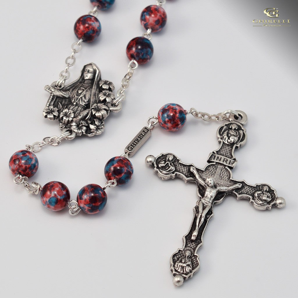 Fatima silver plated rosary -Ghirelli 140111 - Louie's Gift Shop