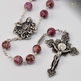 Fatima silver plated Rosary -Ghirell- 140113 - Louie's Gift Shop