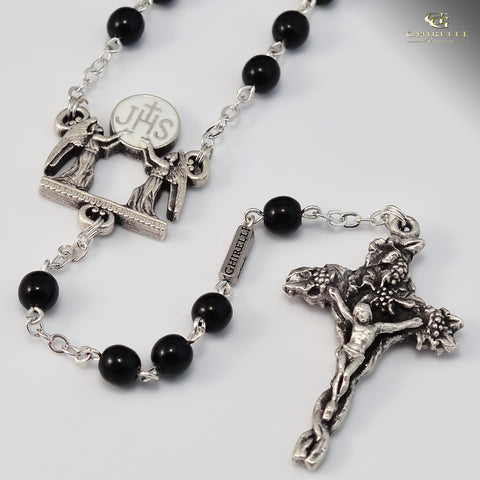 Holy Communion silver plated Rosary- Ghirelli -140155