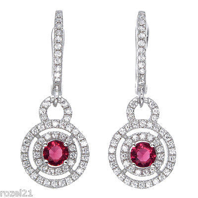 Sterling Silver Earrings with CZ Stones - Louie's Gift Shop